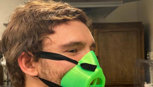 New mask made with 3D printer